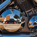 1930 Ford Reflected In 2005 Honda Vtx by T Lowry Wilson