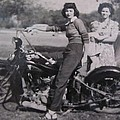 1930's Indian Motorcycle Mama by Donna Wilson