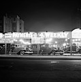 1930s New And Used Car Lot At Night by Vintage Images