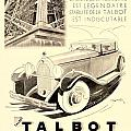 1931 - Talbot French Automobile Advertisement by John Madison