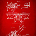1931 Aircraft Emergency Floatation Patent Red by Nikki Marie Smith