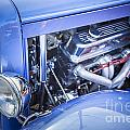 1931 Ford Model A Engine Classic Car In Color 3213.02 by M K Miller
