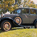 1931 Ford Sedan On Hill At Greenfield Village In Dearborn Michigan by Design Turnpike