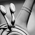 1931 Lincoln K Steering Wheel - Spark - Gas Controls -1865bw by Jill Reger
