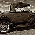 1931 Model T Ford Monochrome by Steve Harrington