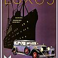 1932 - Mercedes Benz Automobile Poster - Color by John Madison