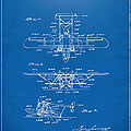 1932 Amphibian Aircraft Patent Blueprint by Nikki Marie Smith