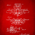 1932 Amphibian Aircraft Patent Red by Nikki Marie Smith