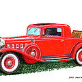1932 Cadillac Rumbleseat Coupe by Jack Pumphrey