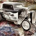 1932 Ford Highboy Automobile Painting In Color  3123.02 by M K Miller