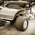 1932 Ford Highboy Back View Classic Car Automobile In Sepia  310 by M K Miller