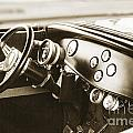 1932 Ford Highboy Dashboard Car Automobile In Sepia  3108.01 by M K Miller