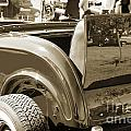 1932 Ford Roadster Rumble Seat Automobile Classic Car In Sepia   by M K Miller