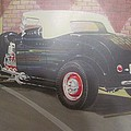 1932 Ford Roaster At Deuce's Saloon by Russell Boothe