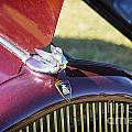1932 Plymouth Emblem On Hood In Color 3045.02 by M K Miller