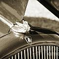 1932 Plymouth Emblem On Hood In Sepia 3045.01 by M K Miller