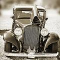 1932 Plymouth Front View In Sepia 3044.01 by M K Miller