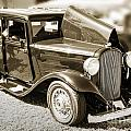 1932 Plymouth With Suicide Doors In Sepia 3043.01 by M K Miller
