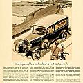 1933 - Chevrolet Commercial Automobile Advertisement - Old Gold Cigarettes - Color by John Madison