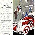 1933 - Hupmobile Sedan Automobile Advertisement - Color by John Madison
