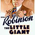 1933 - The Little Giant - Warner Brothers Movie Poster - Edward G Robinson - Color by John Madison