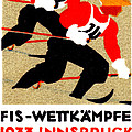 1933 Austrian Ski Race Poster by Historic Image