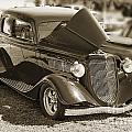 1933 Ford Vicky Automobile In Sepia Color 3023.01 by M K Miller