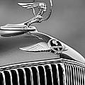 1933 Pontiac Hood Ornament - Emblem -0385bw by Jill Reger