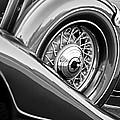 1933 Pontiac Spare Tire -0431bw by Jill Reger