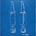 1934 Beer Bottle Patent Artwork - Blueprint by Nikki Marie Smith