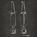 1934 Beer Bottle Patent Artwork - Gray by Nikki Marie Smith
