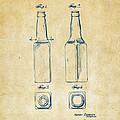 1934 Beer Bottle Patent Artwork - Vintage by Nikki Marie Smith