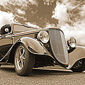 1934 Ford Coupe In Sepia by Gill Billington