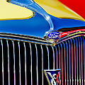 1934 Ford Deluxe Coupe Grille Emblems by Jill Reger