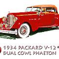 1934 Packard V-12 Dual Cowl Phaeton by Jack Pumphrey
