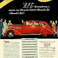 1935 - Nash Aeroform Automobile Advertisement - Color by John Madison