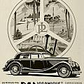 1935 - Panhard Panoramique French Automobile Advertisement by John Madison