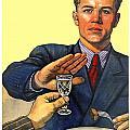1935 - Soviet Union Anti Alcohol Propaganda Poster - Color by John Madison