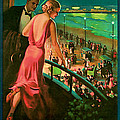 1935 Atlantic City Vintage Travel Art by Presented By American Classic Art