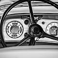 1935 Auburn 851 Supercharged Boattail Speedster Steering Wheel -0862bw by Jill Reger