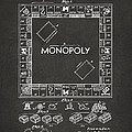 1935 Monopoly Game Board Patent Artwork - Gray by Nikki Marie Smith