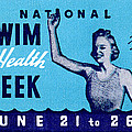 1935 Swim For Health Poster by Historic Image