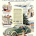 1936 - De Soto Airflow IIi Automobile Advertisement - Color by John Madison
