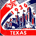 1936 Dallas Texas Centennial Poster by Historic Image