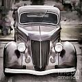 1936 Ford Roadster Classic Car Or Automobile Painting In Color  3120.02 by M K Miller