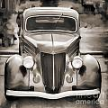 1936 Ford Roadster Classic Car Or Automobile Painting In Sepia  3120.01 by M K Miller
