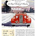 1936 - Lasalle Convertible Automobile Advertisement - Color by John Madison