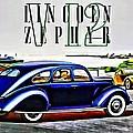 1936 Lincoln Zephyr Ad by Florian Rodarte