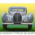 1937 Bugatti 57 S C Atalante by Jack Pumphrey