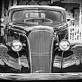 1937 Chevrolet Custom Convertible Bw by Rich Franco